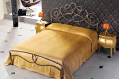 Letto Arabesco color oro antico