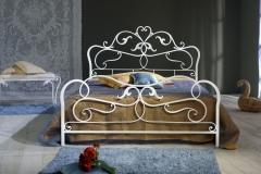 Letto Rubens color bianco confetto