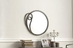 Specchio Azzurra marrone anticato e oro