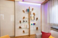Libreria di nostra creazione, in vetro e legno